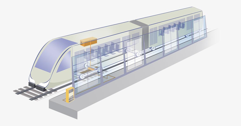 Contrôle d'ouverture et de fermeture des façades de quai de la ligne 1 du métro Parisien