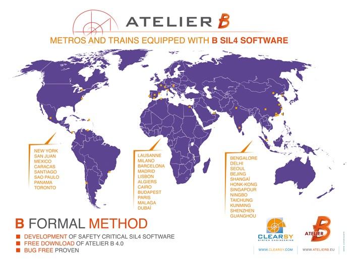 Carte - Utilisation de la méthode B dans le monde